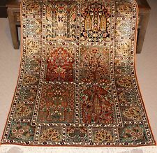 Large Persian Handmade Knotted Silk Rug Carpet Runner,Antique Oriental Decor