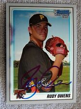 Pittsburgh Pirates Rudy Owens Signed 2010 Bowman Chrome 1st Card Auto