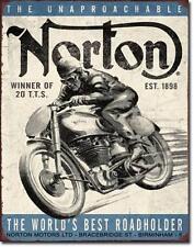 Norton Klassik Motorrad Rennsport Vintage Design Metall Schild Deko