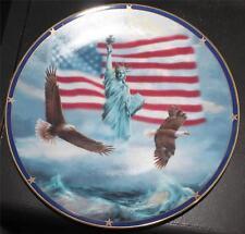New Box Danbury Mint Porcelain America Stands Proud Rudi Reichardt Décor Plate