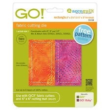 """AccuQuilt GO! & Baby Rectangle-2"""" x 3 1/2"""" (1 1/2"""" x 3"""" Finished)Die 55158 Quilt"""
