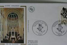 ENVELOPPE PREMIER JOUR SOIE 1988 SYNAGOGUE DE PARIS