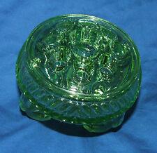Vintage vase green glass vase thick glass rare posy vase