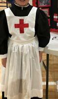 Florence Nightengale Costume Civil War Red Cross ~Black Nurse~ Adult Sizes S-XL