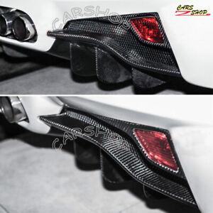 Real Carbon Fiber Rear Fog Light Cover Replace For Ferrari 458 Italia Spider