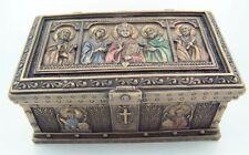 Jesus Christ Saint Peter St Paul Rosary Keepsake Trinket Box Catholic Relics