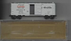 """N Scale  #20111 D&RGW """"Cookie Box"""" 40"""" Standard Steel Box Car Free Shipping"""