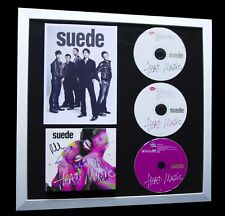 SUEDE+SIGNED+FRAMED+HEAD+BEAUTIFUL+NIGHT+STAY=100% AUTHENTIC+FAST GLOBAL SHIP!