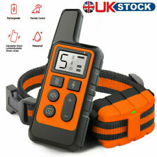 Rechargeable 800M Remote Pet Dog Training Collar LCD Electric Shock Anti-bark UK