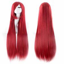 pelucas Largas recta Amine Cosplay de largo peluca Peluca wig rojo rosa Rubio