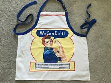 Rosie the Riveter Adult Apron We Can Do It Cotton Blend