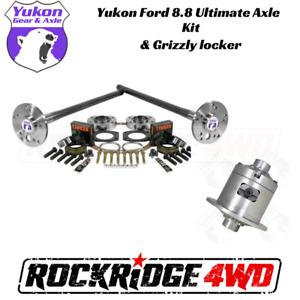 Yukon Ford 8.8 C-Clip Eliminator Axle Kit 4340 & Grizzly Locker Bundle