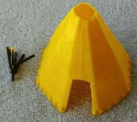 Original 1950s MARX Fort Apache Stockade TEE-PEE w Plastic Top STICK-LIKE Piece