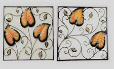 2 Piece Matching Set Vine Leaf Wrought Iron Metal Wall Art Home Decor