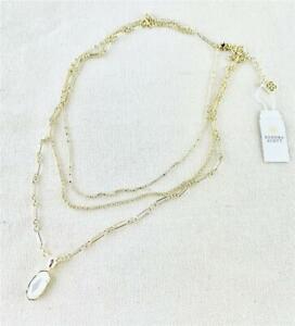 Kendra Scott Elisa Triple Strand Ivory Pearl Gold Necklace