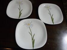 "3 Block FLORAL PORTRAITS Switzerland Salad/ luncheon plates ""Shasta Daisy"""