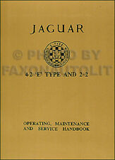 1965 1966 1967 Jaguar XKE Owners Manual 4.2 XK E Type Operating Handbook Guide