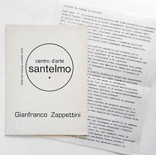 Gianfranco Zappettini 2 cataloghi Santelmo 1974/Peccolo 1976 pittura analitica