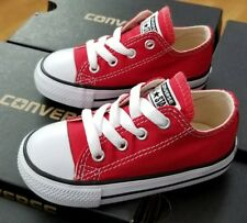 CONVERSE ALL STAR LOW CHUCK TAYLOR 7J236 RED TODDLER US SZ 7