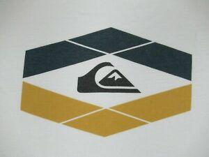 Quiksilver Surf Co Klassisch Welle Mountain Logo - Weiß M T-shirt A1717