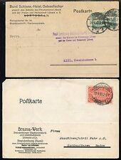 2 GERMANY POSTAL CARDS 1922-23