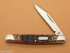 BUCK 379 SOLO SINGLE BLADE BROWN BONE HANDLE PEN SMALL FOLDING POCKET KNIFE ~NEW