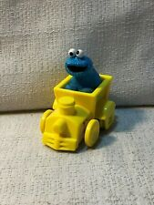 Illco Jim Henson Sesame Street Cookie Monster Yellow Toy Train Car Vintage