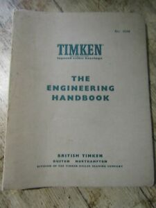 British Timken Engineering Handbook 1962 No 4094 Roller Bearings