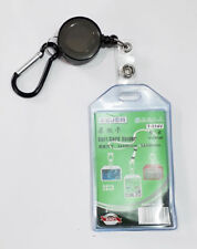 Retractable Soft Double Sided ID Vertical Card Badge Holder Pouch UK Stock