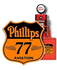 """PHIL-LUB-4 24/""""X10/"""" PHILLIPS 66 panel OIL LUBSTER FRONT DECAL CAN GAS GASOLINE"""