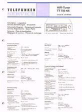 Telefunken TT-750 hifi Tuner  Schaltplan Manual ORIGINAL 28 Seiten