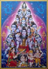 "Lord Shiva Different Views, Parvati Ganesh Karthik - Big POSTER (Size: 20""x28"")"