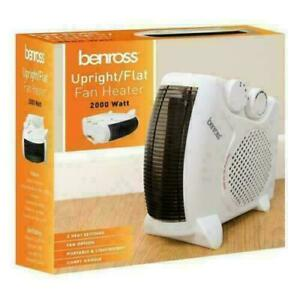 FAN HEATER 2KW 2000W SMALL PORTABLE ELECTRIC FLOOR HOT & COLD AIR UPRIGHT OFFICE