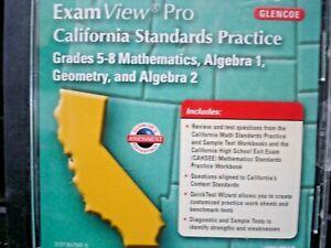 ExamView Pro California Standards Practice Grades 5-8 Mathematics/Algebra