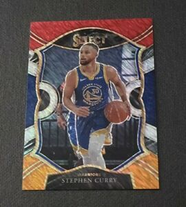 2020-21 Select Prizms Red White Orange Shimmer #57 Stephen Curry