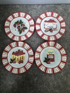 "MWW Market ""How to Make Strawberry Jam"" Mini Plates Set of 4"