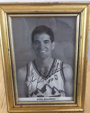 John Stockton Signed Picture Framed Autographed Utah Jazz