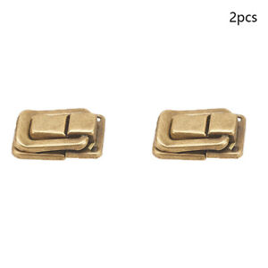 2Pcs 37mm Iron Box Case Toggle Catch Lock Suitcase Chest Trunk Latch Clasp