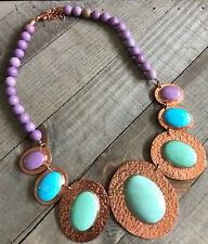 JAY KING Gallery Phosphosiderite, Kingman Turquoise, Variscite Necklace, Copper