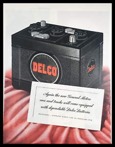 1945 Delco Remy Batteries Vintage Print Ad