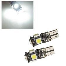 2 x 501 W5W T10 Error Free Canbus 5 SMD LED Sidelight Bulbs 6000K White - Honda