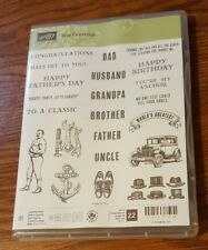 STAMPIN UP GUY GREETINGS PHOTOPOLYMER STAMP SET NEW