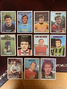 A&bc Orange Backed Football Bubblegum Cards X11 Used Condition