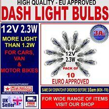 286 T5 MINIATURE CAPLESS WEDGE CAR DASHBOARD DASH LIGHT BULBS 12V 2.3W
