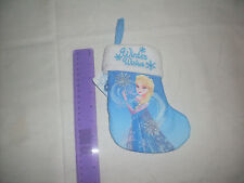 Disney Frozen Elsa Winter Wishes Small Stocking with hanging loop- NEW WITH TAGS