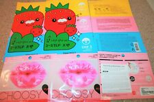3 x Tony Moly Mr Strawberry 3-step Nose Pack & 3 x Pure Smile Choosy Peach Lip