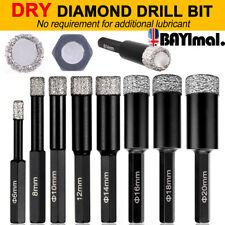 6-14mm DRY DIAMOND DRILL BITS FOR PORCELAIN GRANITE TILE GLASS CERAMICS MARBLE