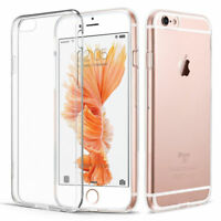 For Apple iPhone 6s Transparent Clear Gel Rubber TPU Soft Back Case Cover Skin