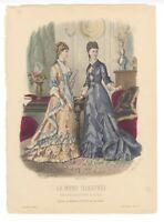 """Ladies Fashion Print - """"La Mode Illustree"""" 1878 No. 7"""