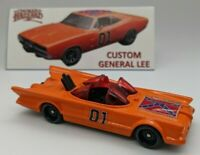 Hot Wheels Custom Dukes of Hazzard General Lee 1966 TV Batman Batmobile - blk